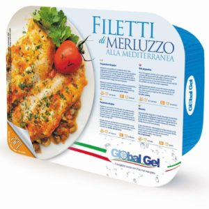 Filetti di Merluzzo alla Mediterranea - global gel uk - ready made meal frozen italia