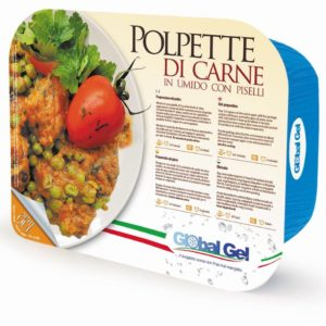 Polpette di Carne in Umido con Piselli - global gel uk - ready meal frozen italian