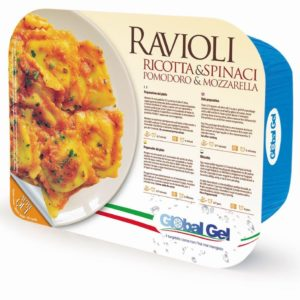 Ravioli Ricotta e Spinaci al Pomodoro e Mozzarella - global gel uk - ready meal frozen Italian