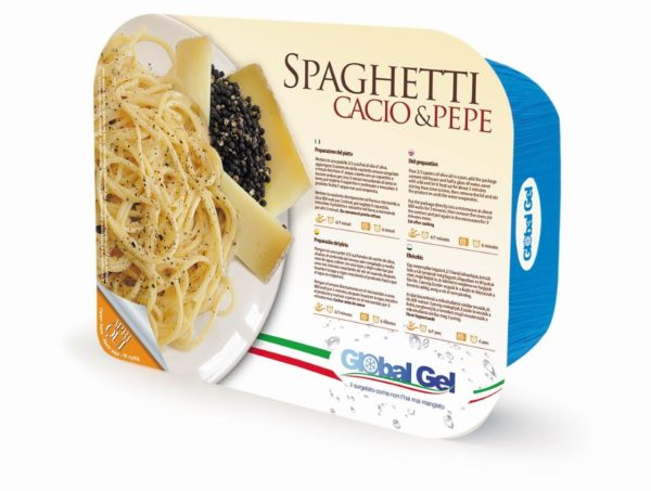 Spaghetti Cacio e Pepe - global gel uk - ready meal frozen Italian
