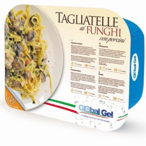 Tagliatelle ai Funghi con Porcini - global gel uk - ready meal frozen Italian