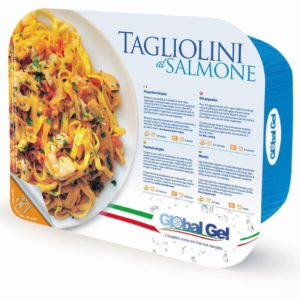 Tagliolini al Salmone - global gel uk - ready meal frozen Italian